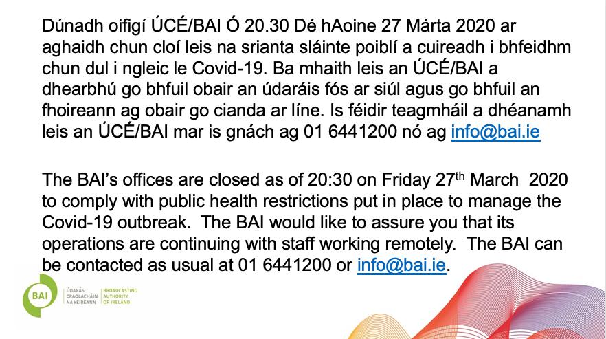 BAI Office Closure