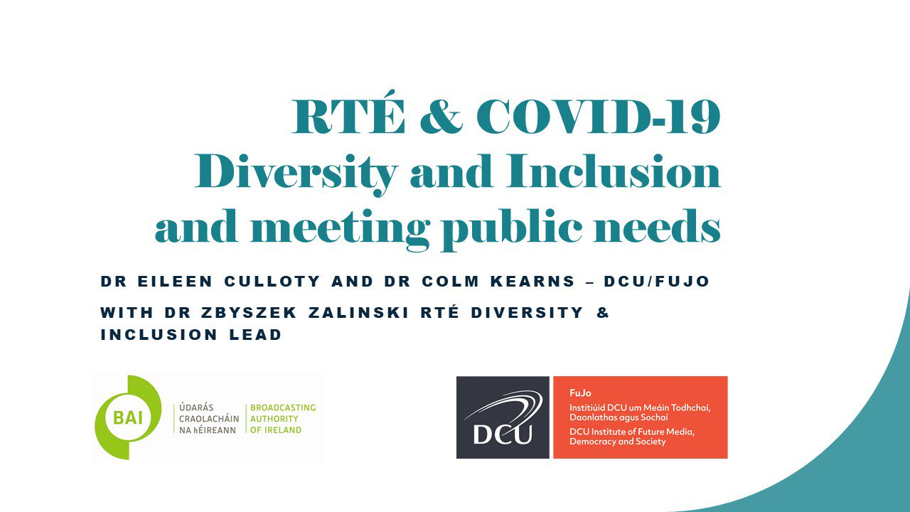 New research report explores diversity and inclusion in RTÉ's response to COVID-19