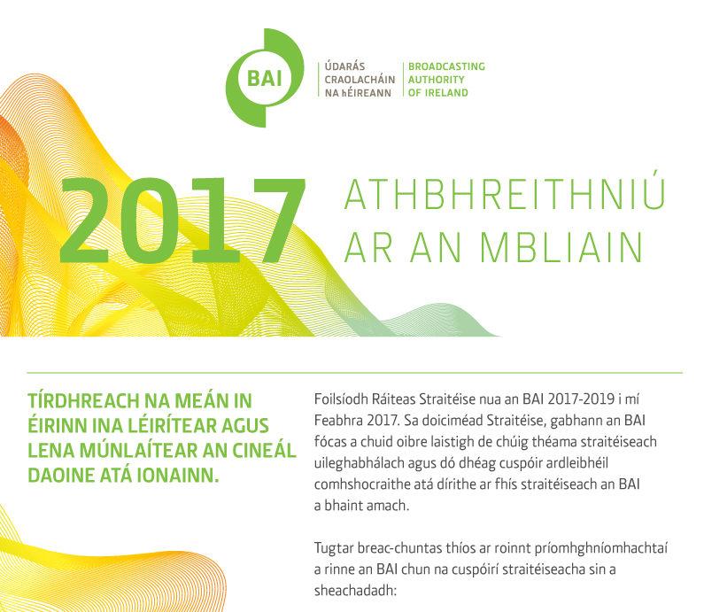 Athbhreithniú um Údarás Craolacháin na hÉireann 2017